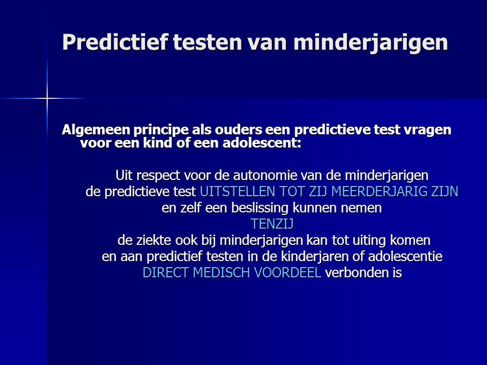 Predictief testen van minderjarigen