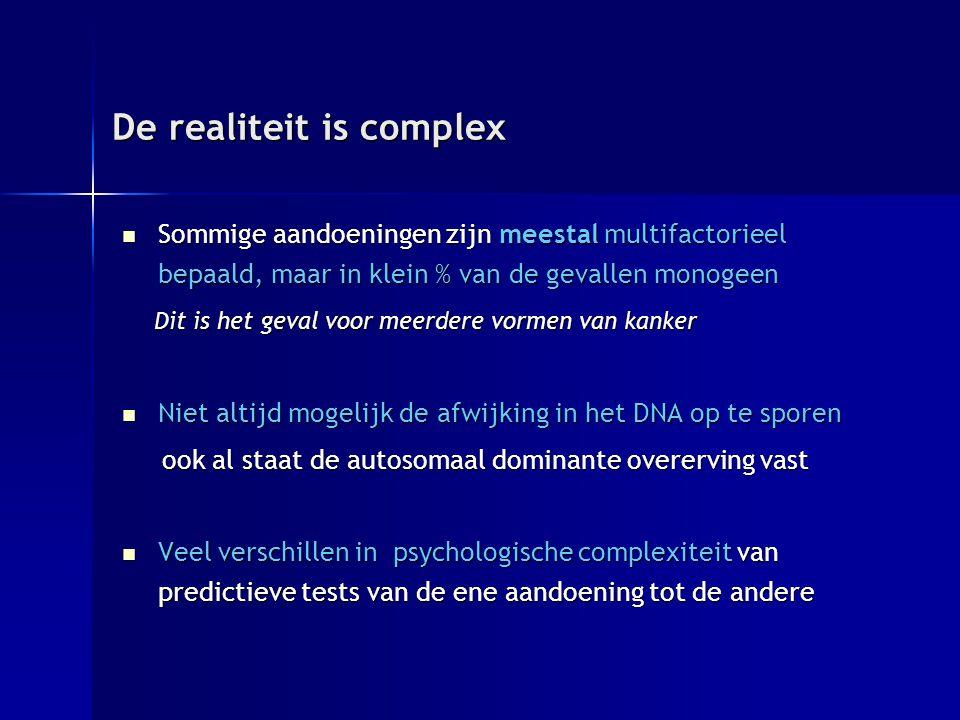 De realiteit is complex