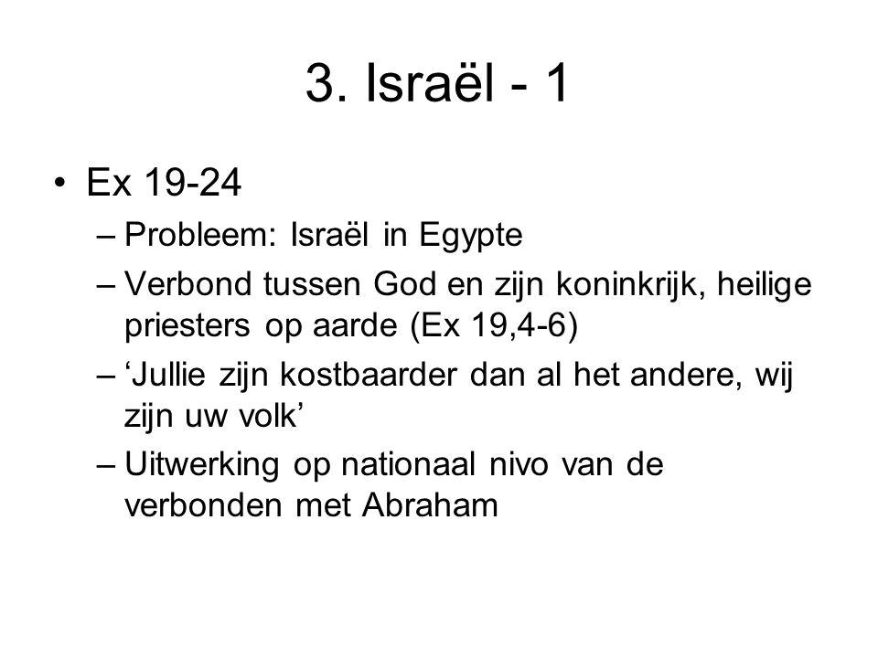 3. Israël - 1 Ex 19-24 Probleem: Israël in Egypte