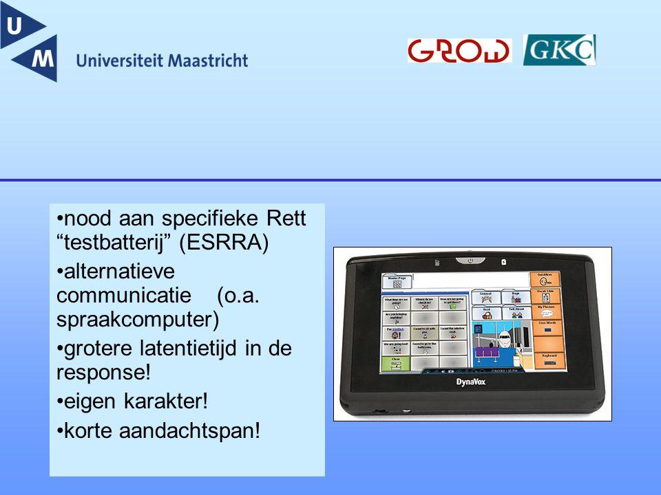 nood aan specifieke Rett testbatterij (ESRRA)