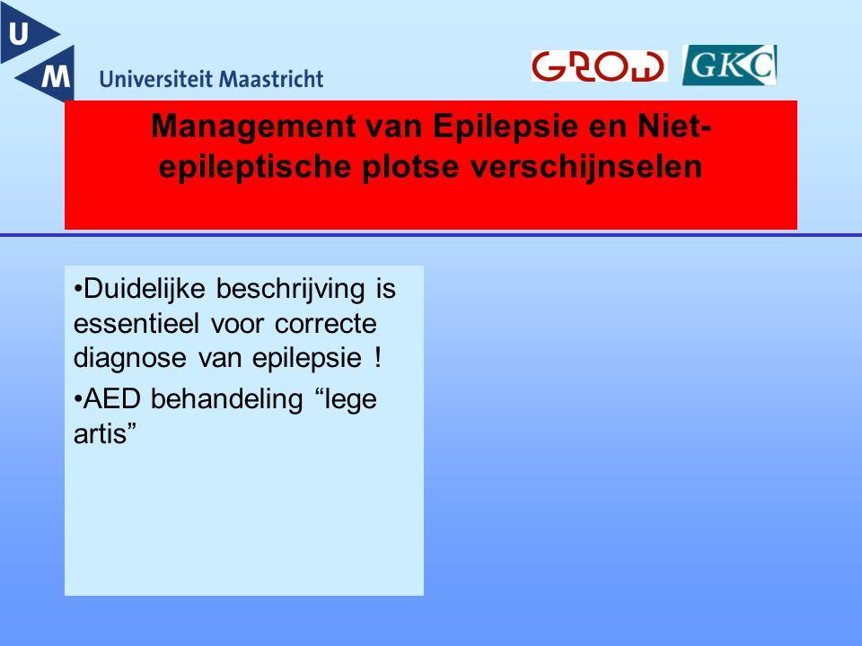 Management van Epilepsie en Niet-epileptische plotse verschijnselen