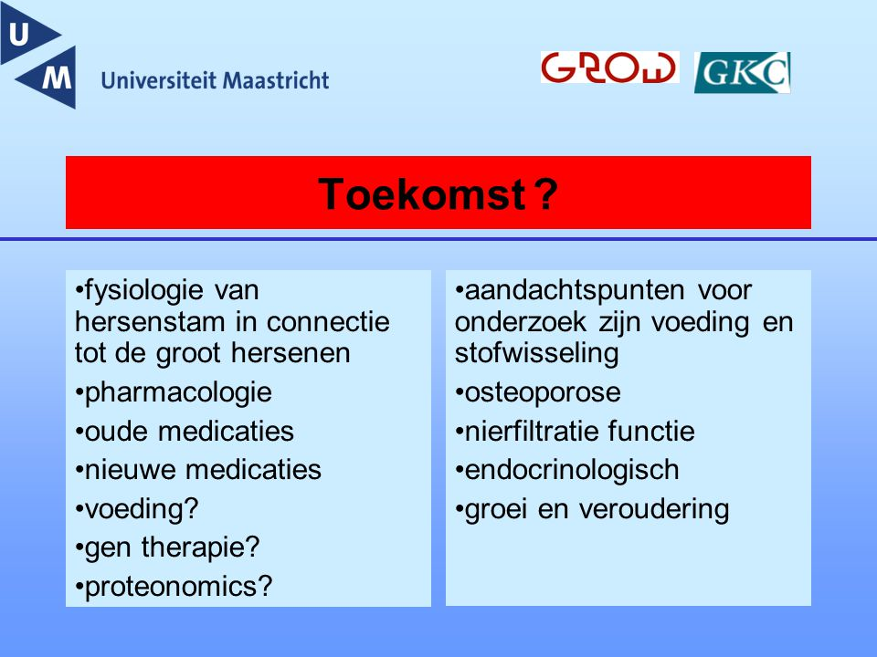 Toekomst fysiologie van hersenstam in connectie tot de groot hersenen. pharmacologie. oude medicaties.
