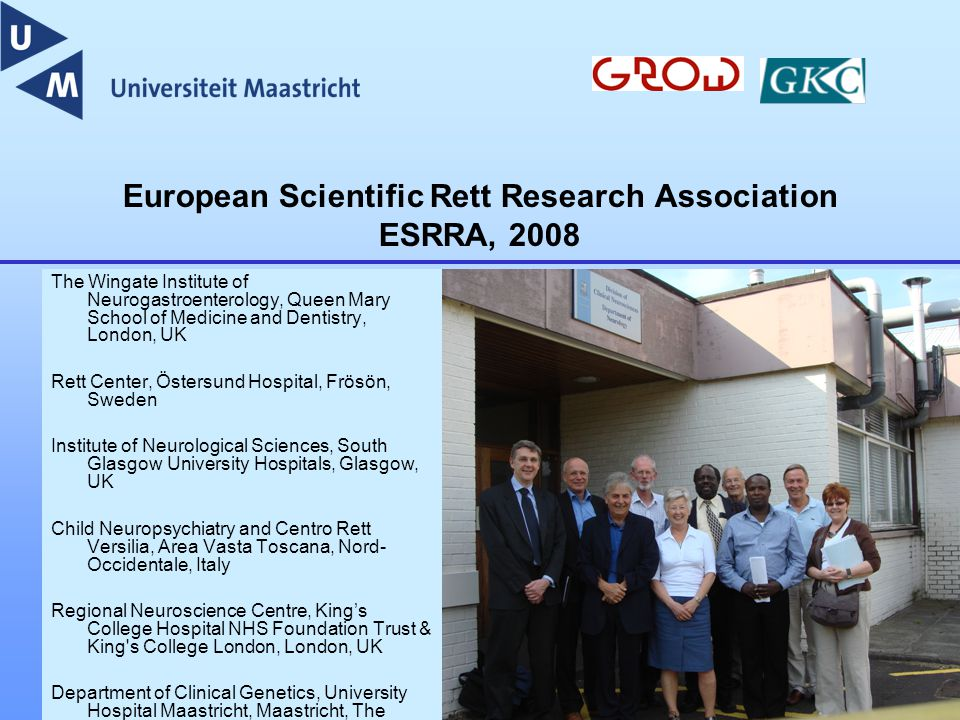 European Scientific Rett Research Association ESRRA, 2008