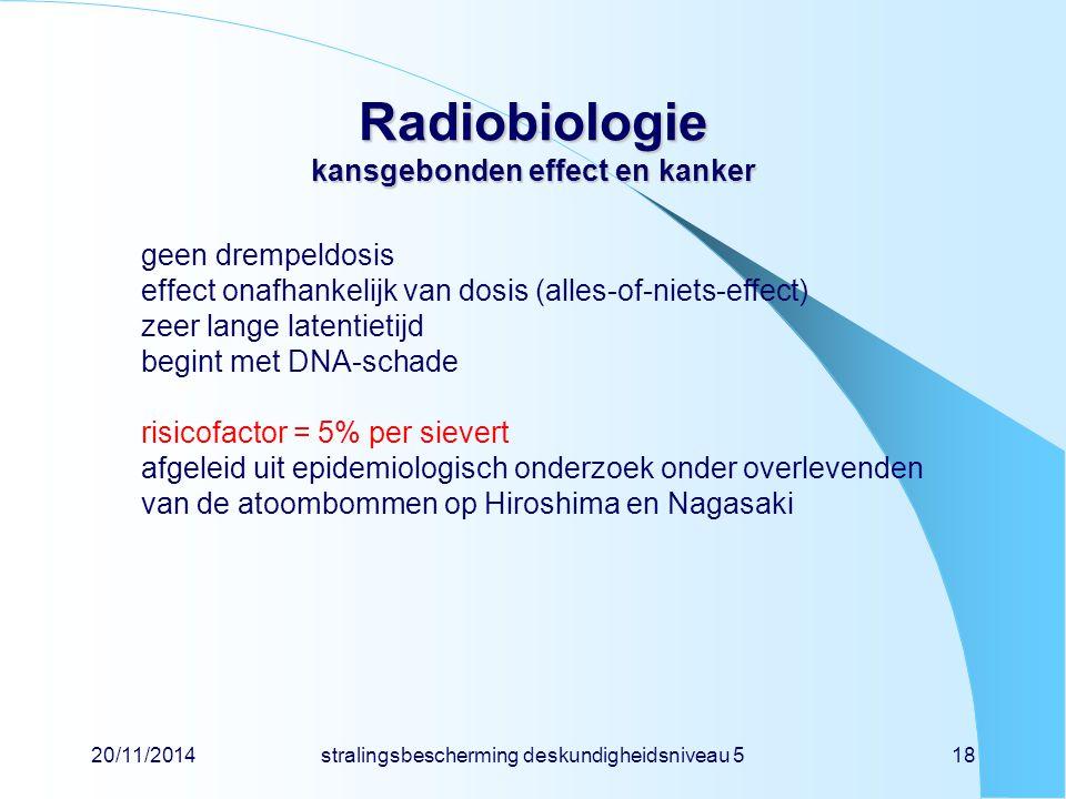 Radiobiologie kansgebonden effect en kanker