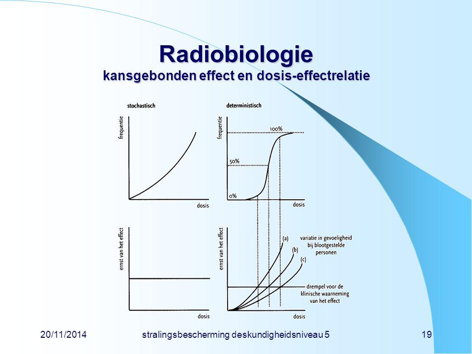 Radiobiologie kansgebonden effect en dosis-effectrelatie
