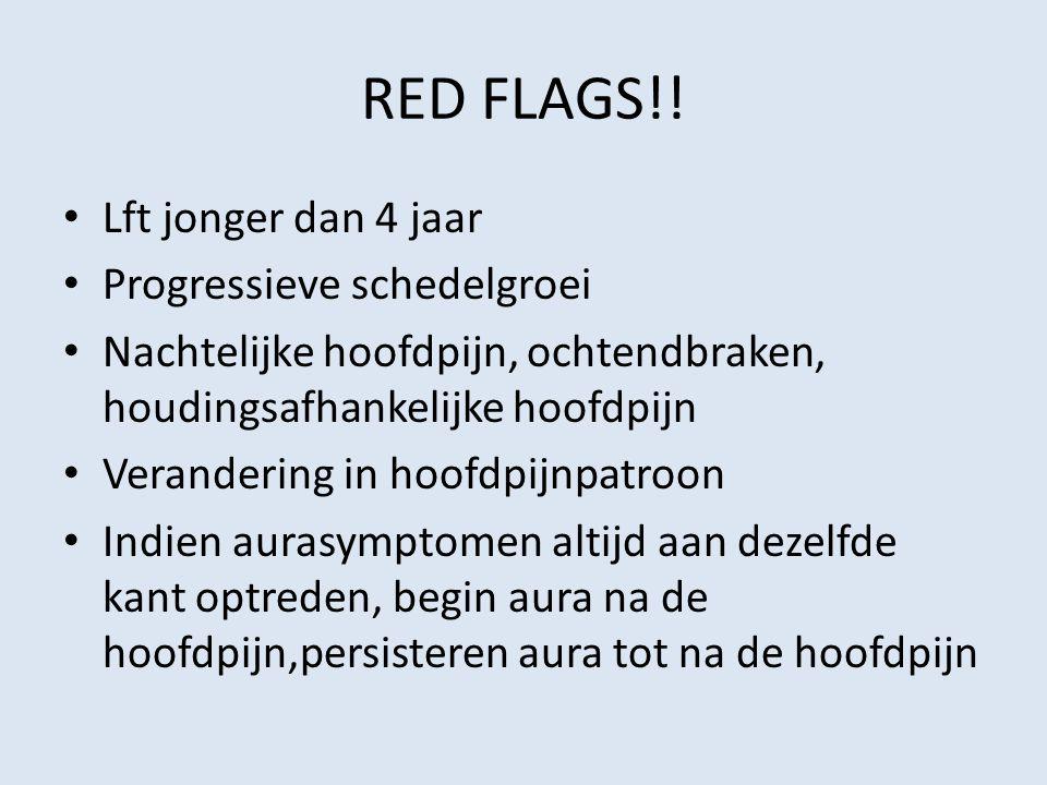 RED FLAGS!! Lft jonger dan 4 jaar Progressieve schedelgroei
