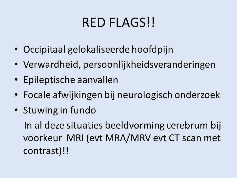 RED FLAGS!! Occipitaal gelokaliseerde hoofdpijn