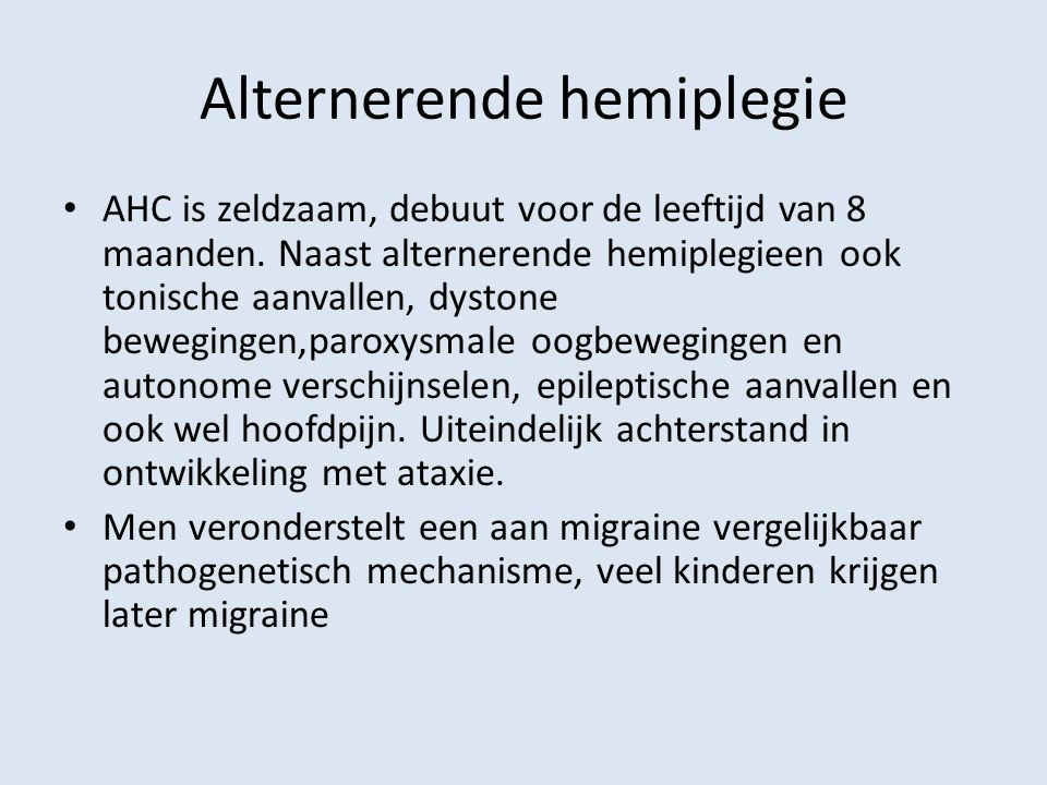 Alternerende hemiplegie