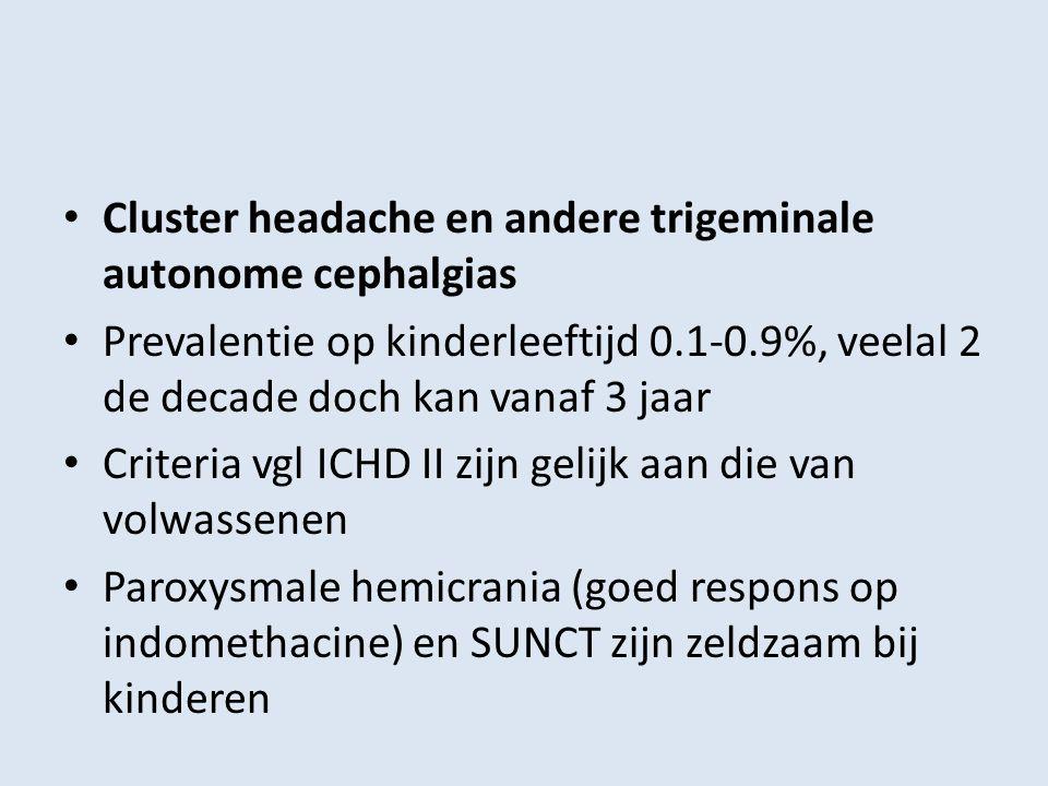 Cluster headache en andere trigeminale autonome cephalgias