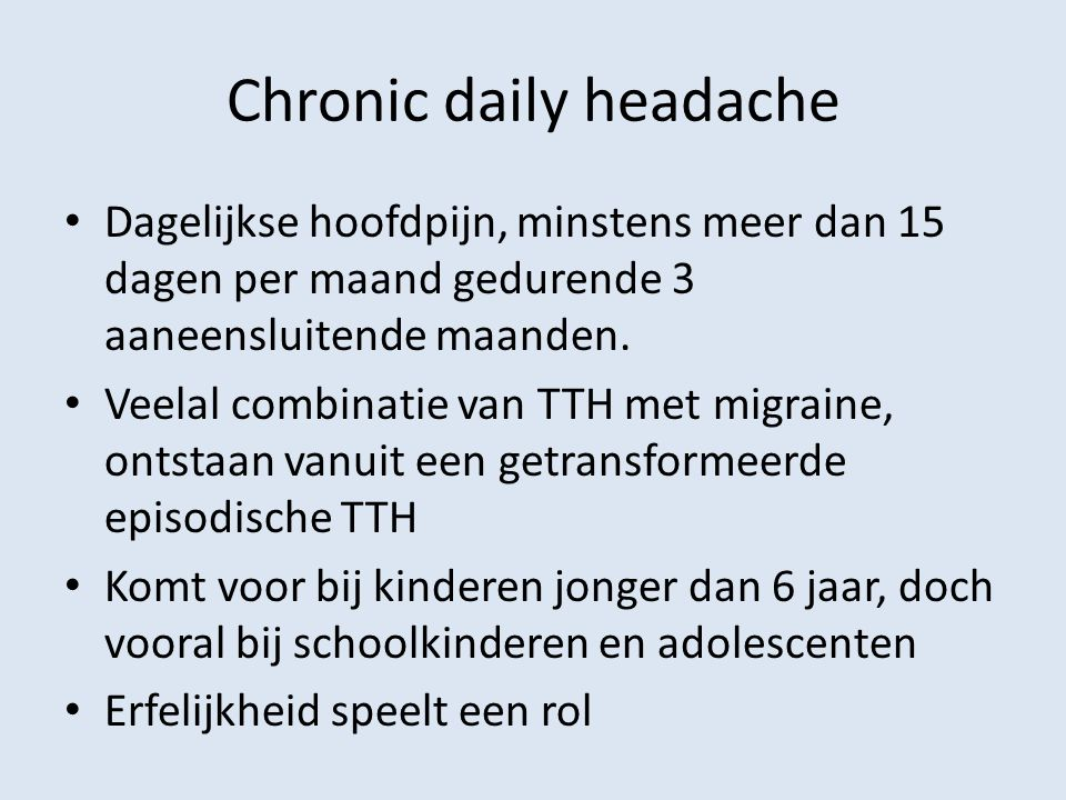 Chronic daily headache