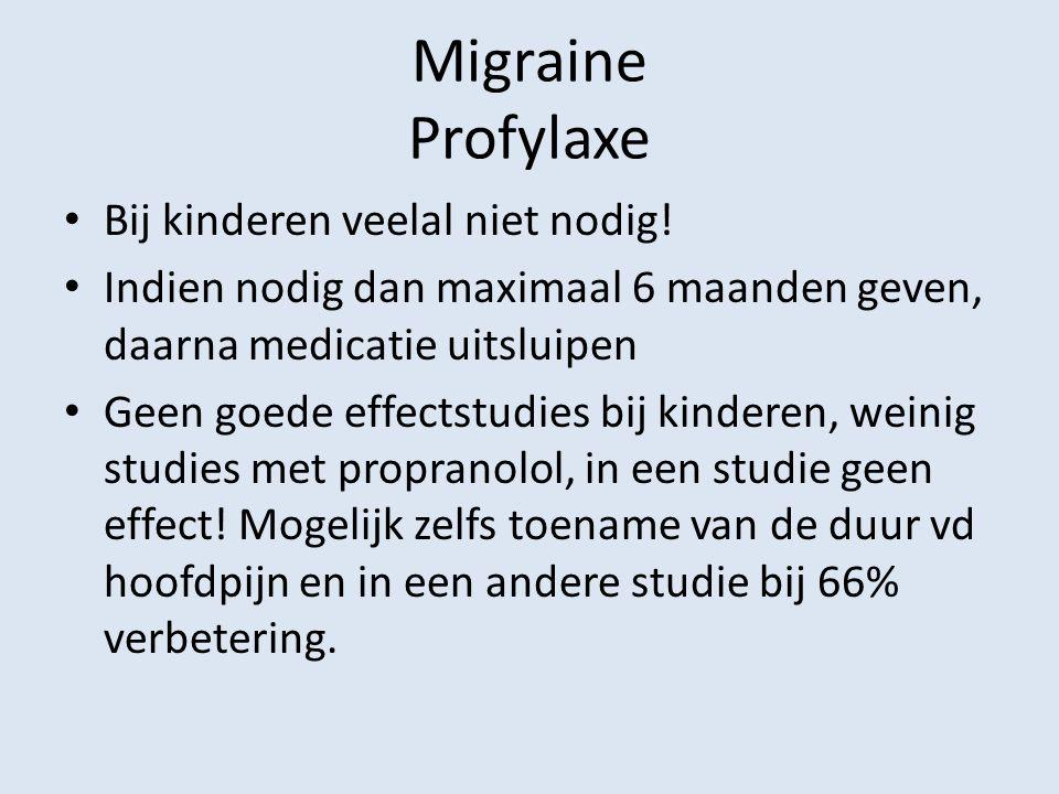 Migraine Profylaxe Bij kinderen veelal niet nodig!
