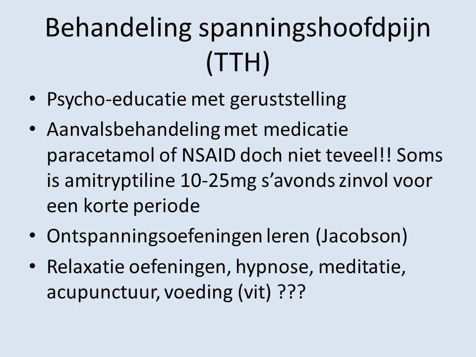 Behandeling spanningshoofdpijn (TTH)