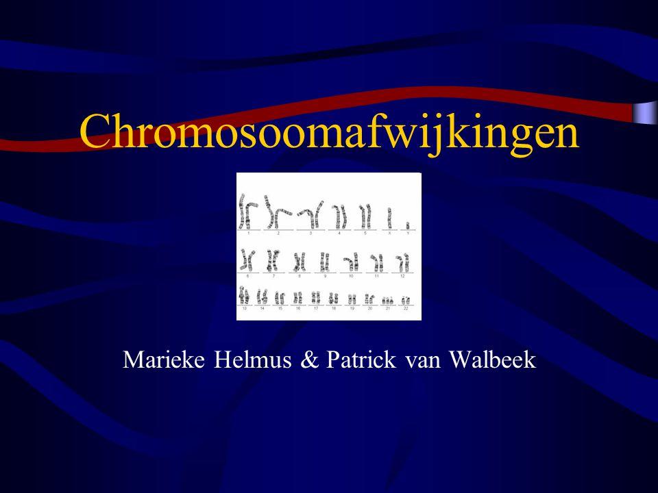 Chromosoomafwijkingen