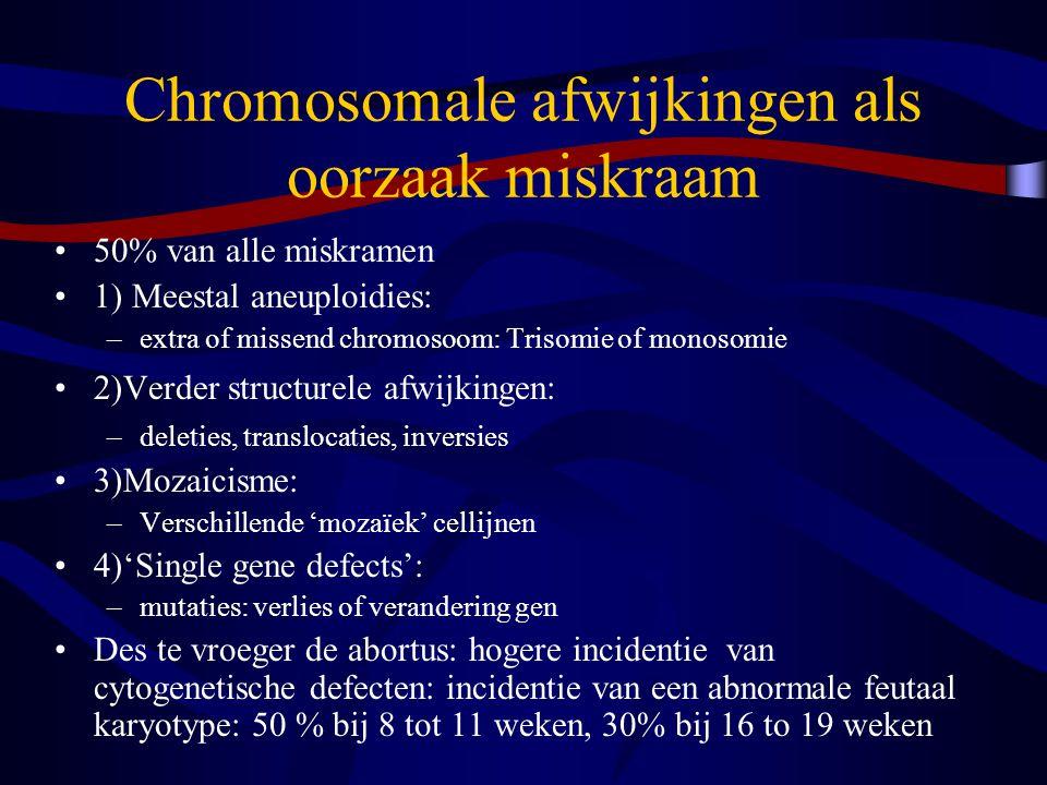 Chromosomale afwijkingen als oorzaak miskraam