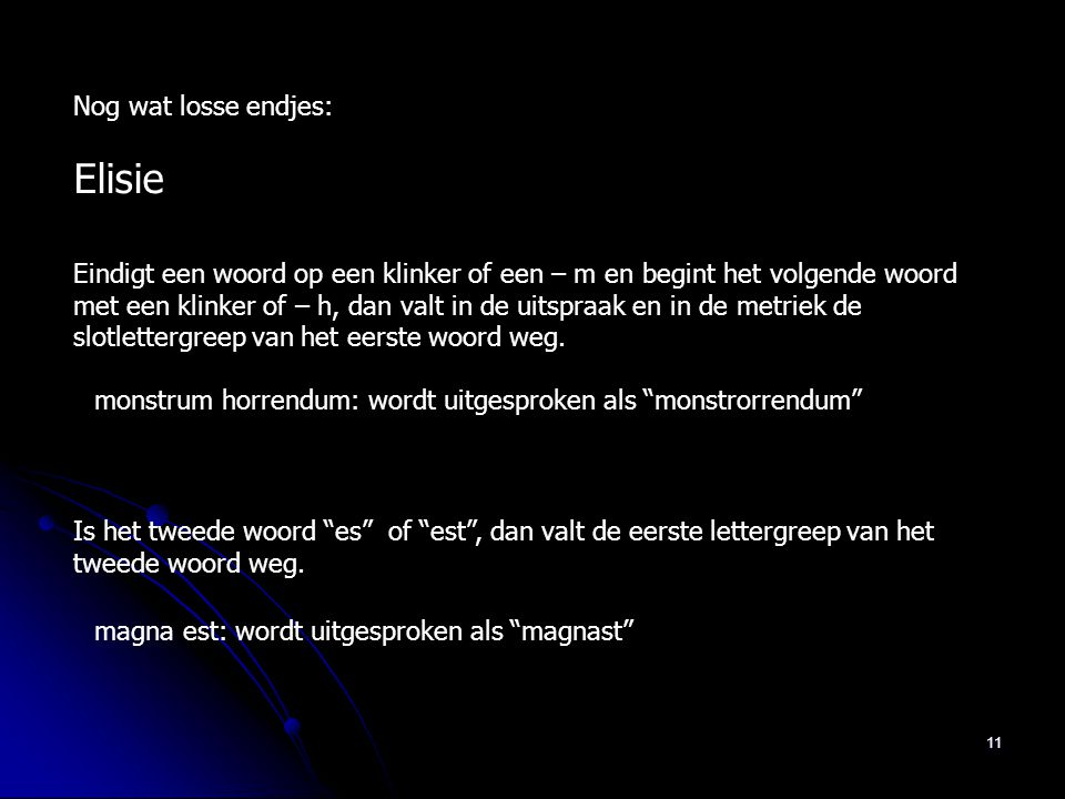 Elisie Nog wat losse endjes: