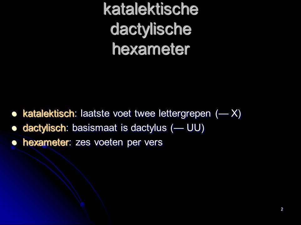 katalektische dactylische hexameter