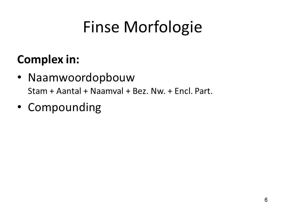 Finse Morfologie Complex in: