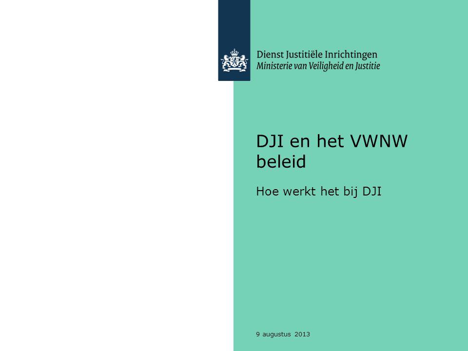 DJI en het VWNW beleid Hoe werkt het bij DJI