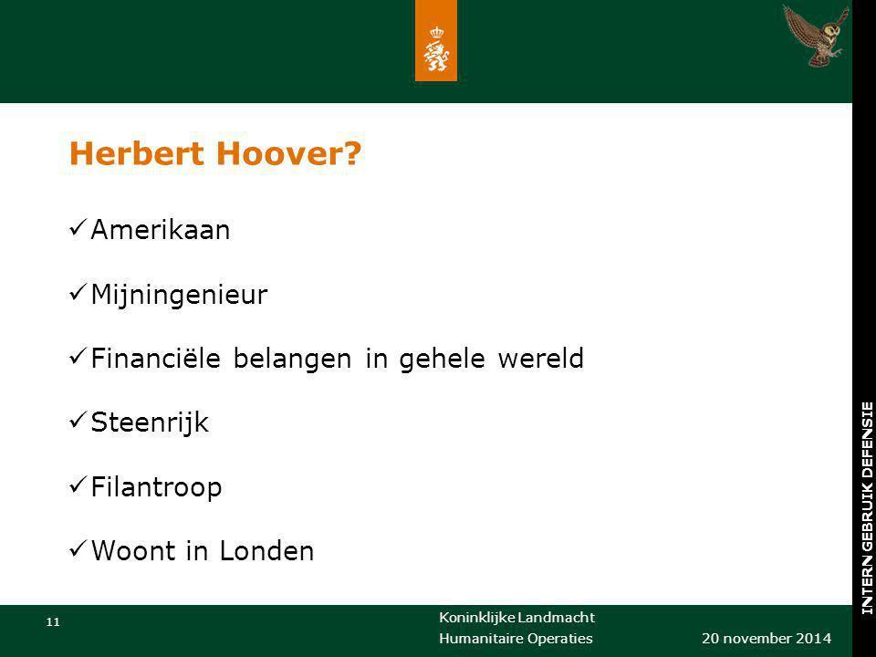 Herbert Hoover Amerikaan Mijningenieur