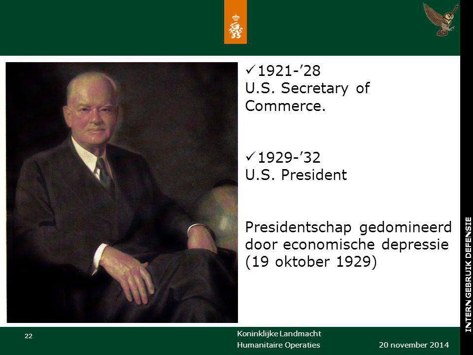 1921-'28 U.S. Secretary of Commerce.