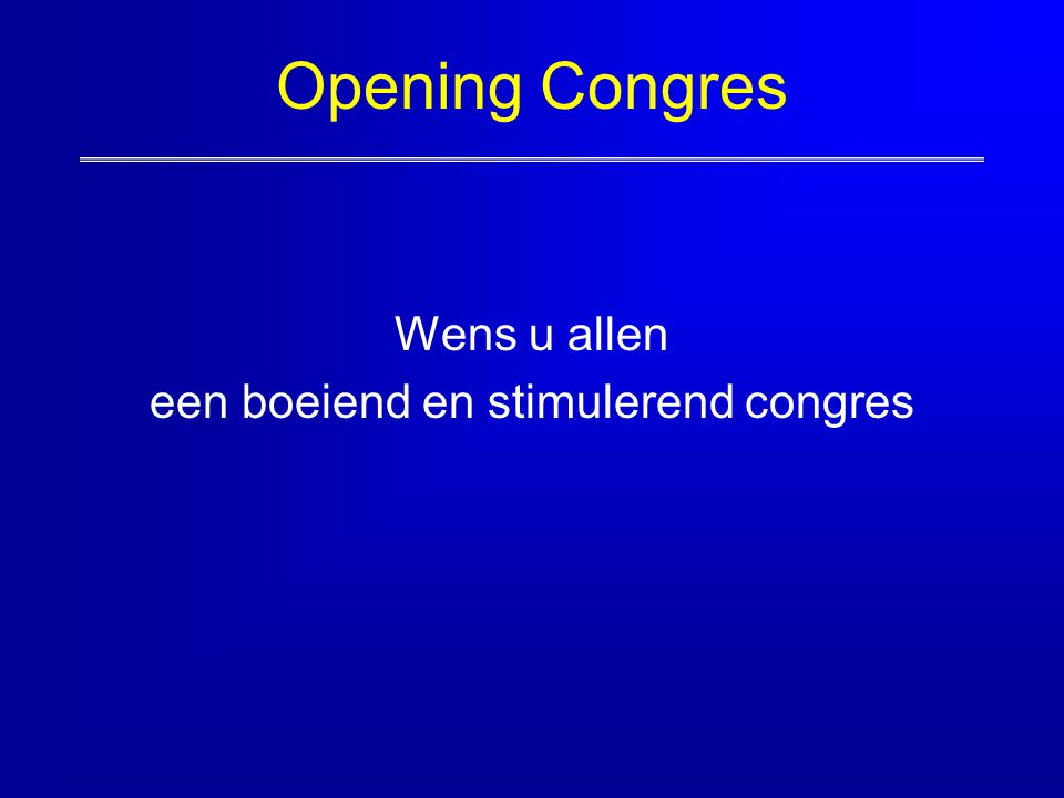 een boeiend en stimulerend congres