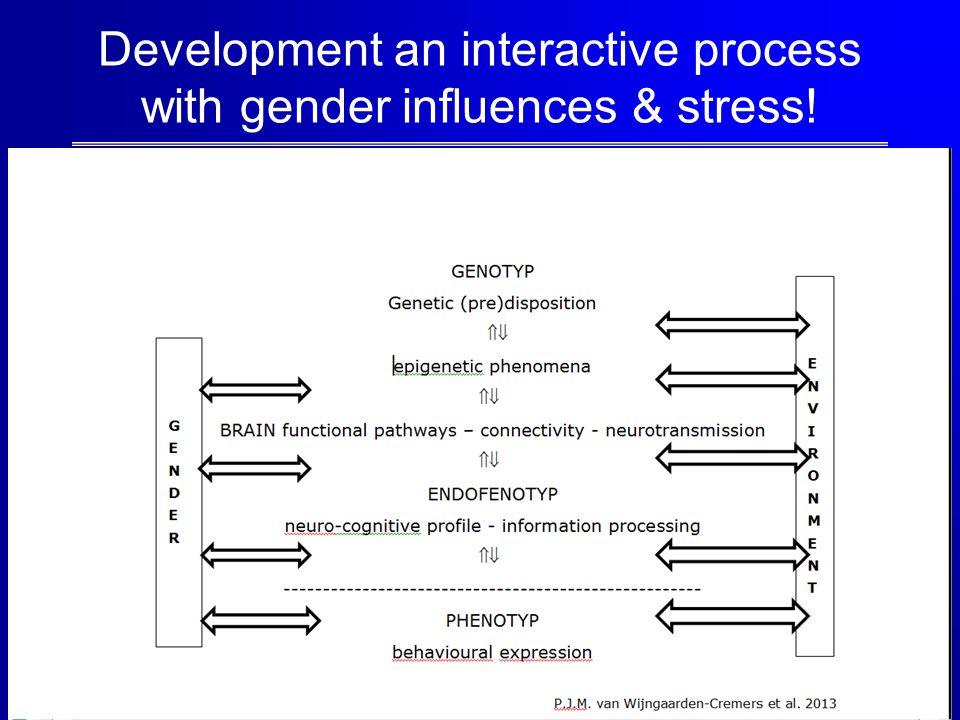 Development an interactive process with gender influences & stress!