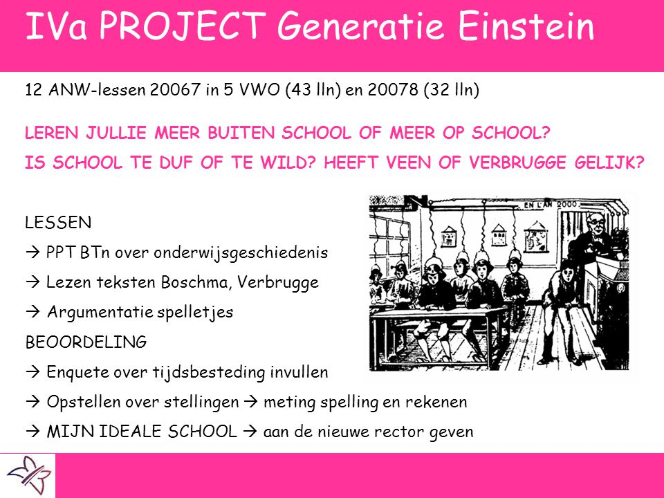 IVa PROJECT Generatie Einstein
