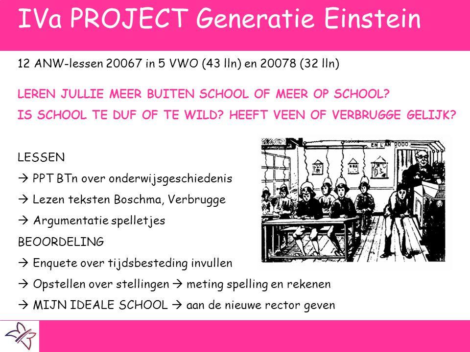 IVa PROJECT Generatie Einstein