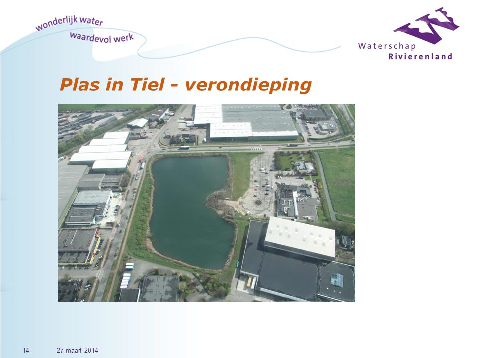 Plas in Tiel - verondieping