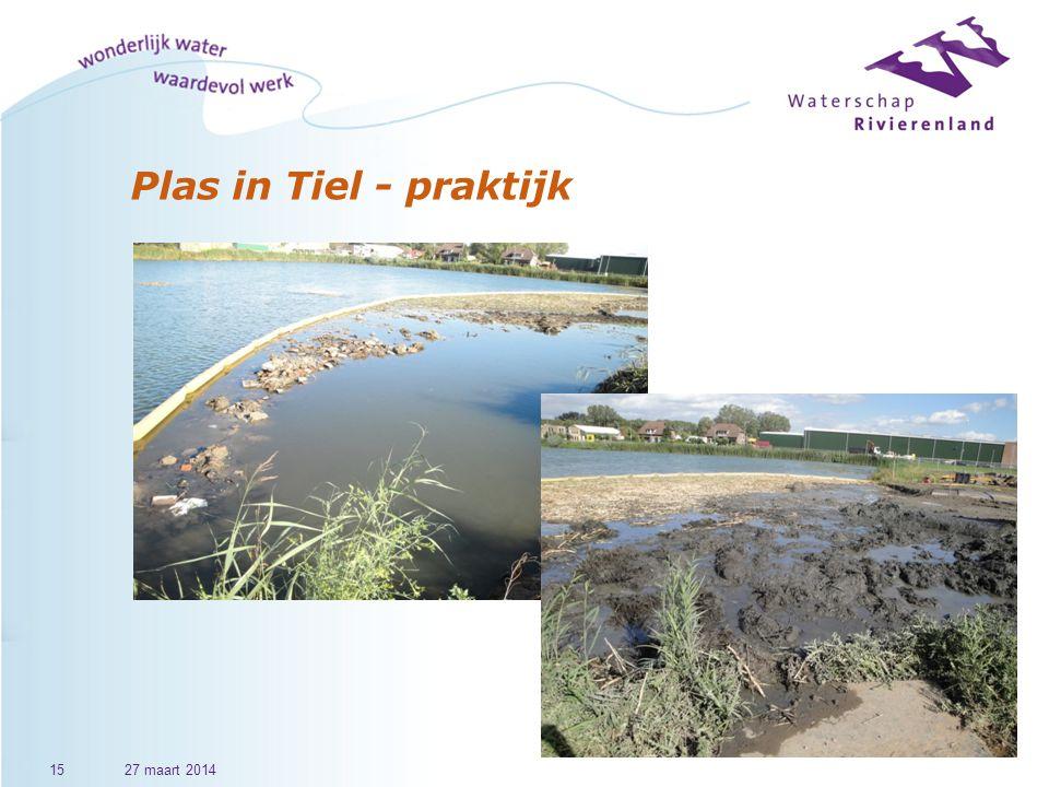 Plas in Tiel - praktijk 27 maart 2014