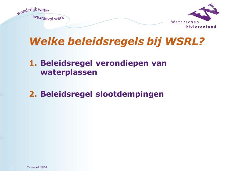 Welke beleidsregels bij WSRL