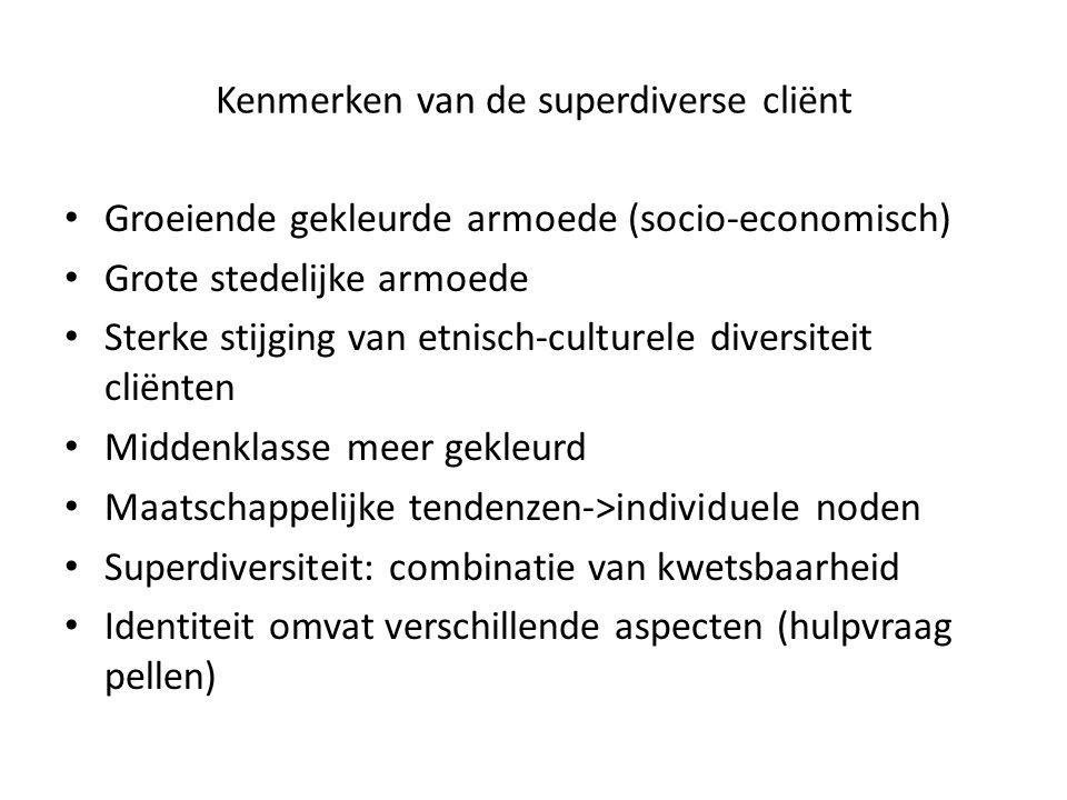 Kenmerken van de superdiverse cliënt