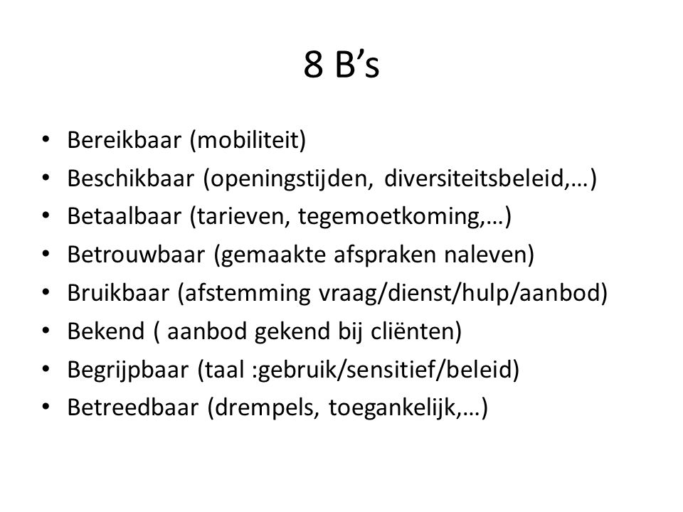 8 B's Bereikbaar (mobiliteit)