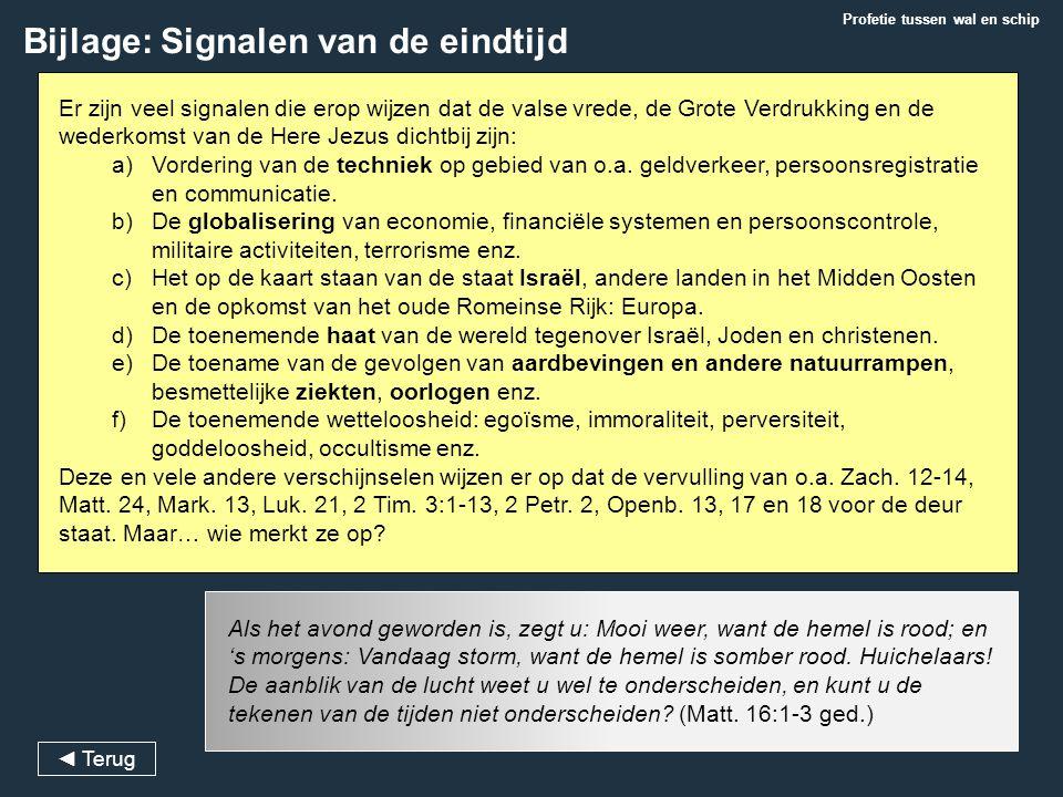 Bijlage: Signalen van de eindtijd