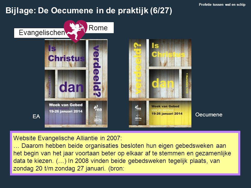 Bijlage: De Oecumene in de praktijk (6/27)
