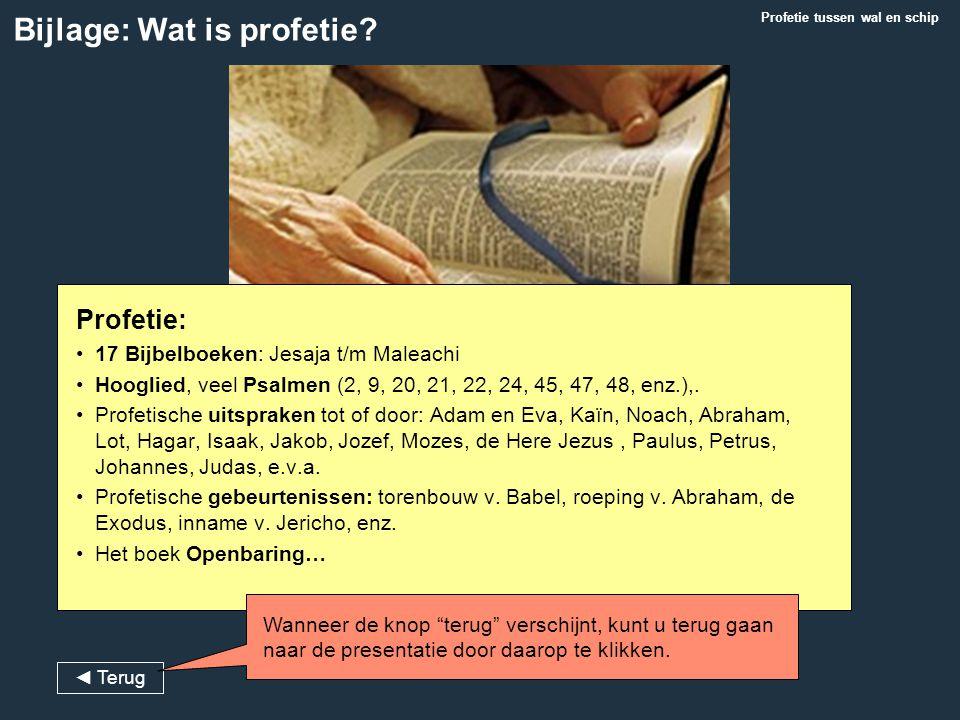 Bijlage: Wat is profetie