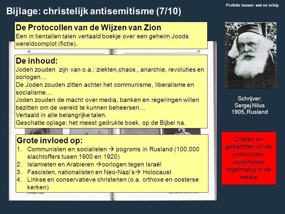 Bijlage: christelijk antisemitisme (7/10)