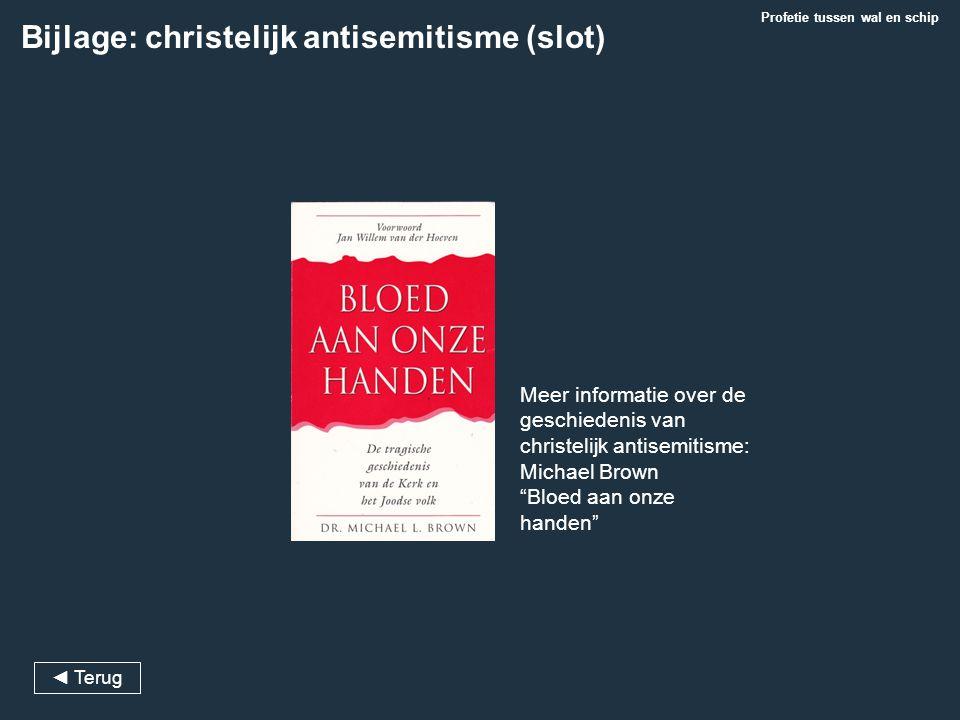 Bijlage: christelijk antisemitisme (slot)