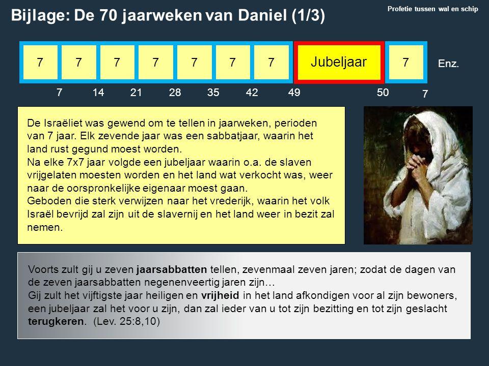 Bijlage: De 70 jaarweken van Daniel (1/3)