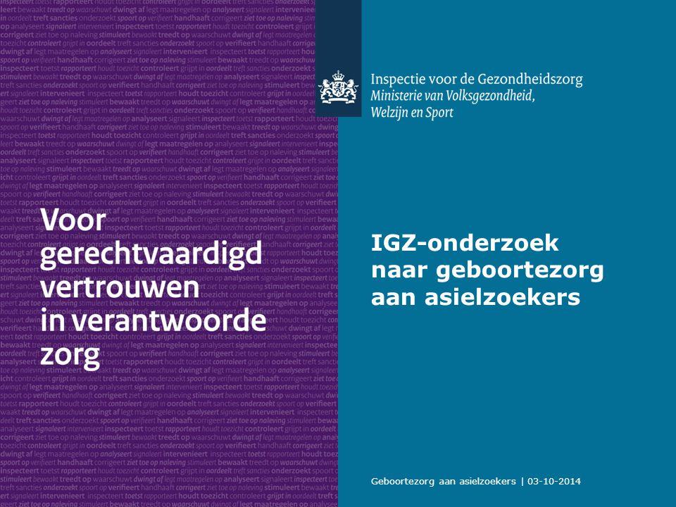 IGZ-onderzoek naar geboortezorg aan asielzoekers