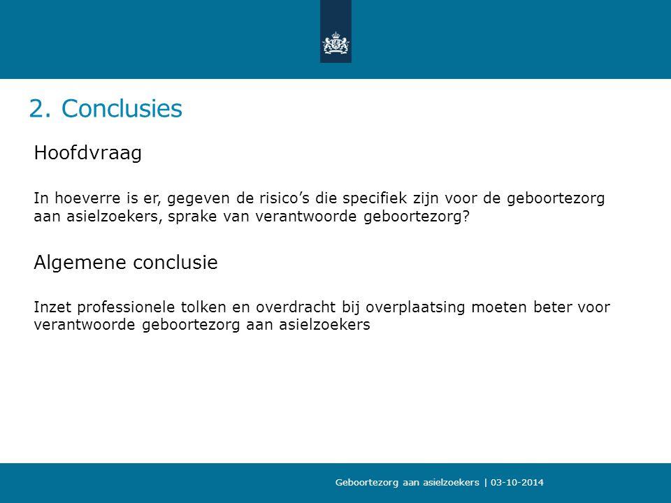 2. Conclusies Hoofdvraag Algemene conclusie