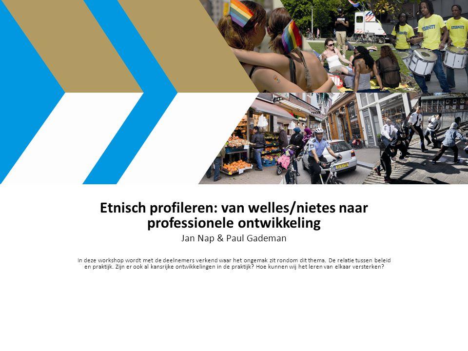 Etnisch profileren: van welles/nietes naar professionele ontwikkeling