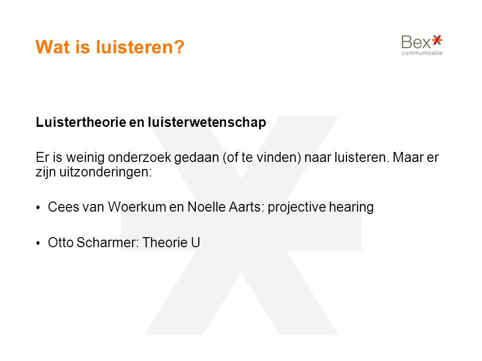 Wat is luisteren Luistertheorie en luisterwetenschap