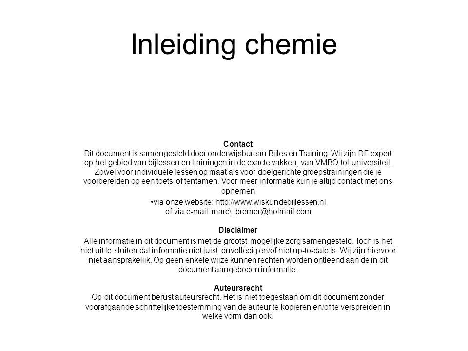 Inleiding chemie