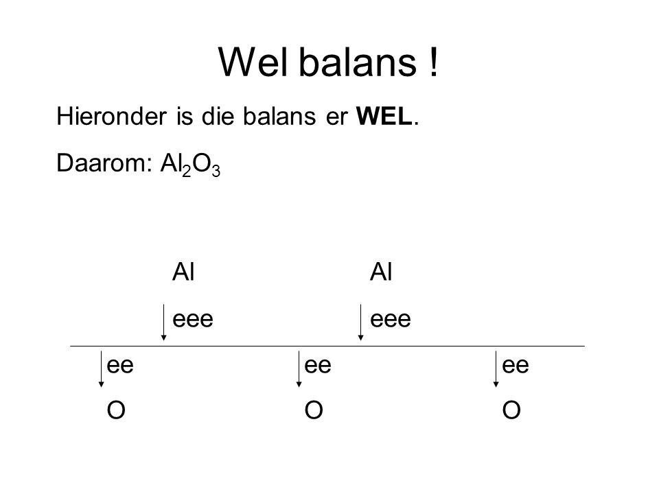 Wel balans ! Hieronder is die balans er WEL. Daarom: Al2O3 Al Al