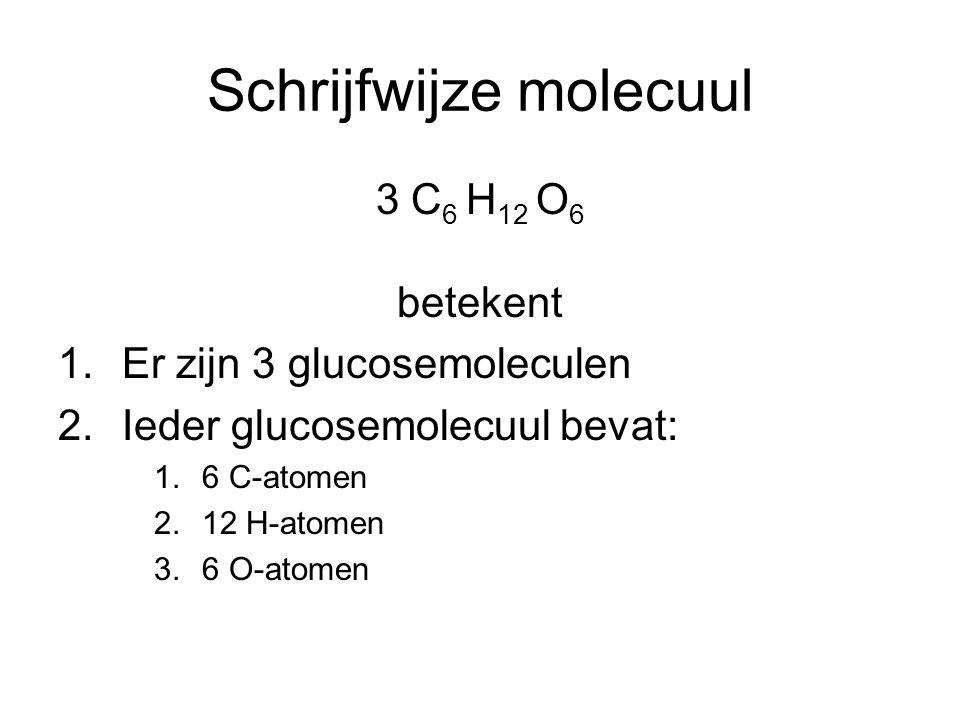 Schrijfwijze molecuul