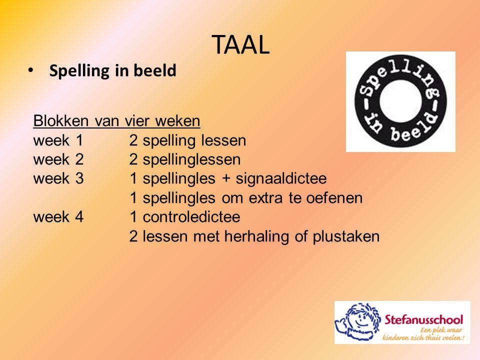 TAAL Spelling in beeld Blokken van vier weken week 1 2 spelling lessen