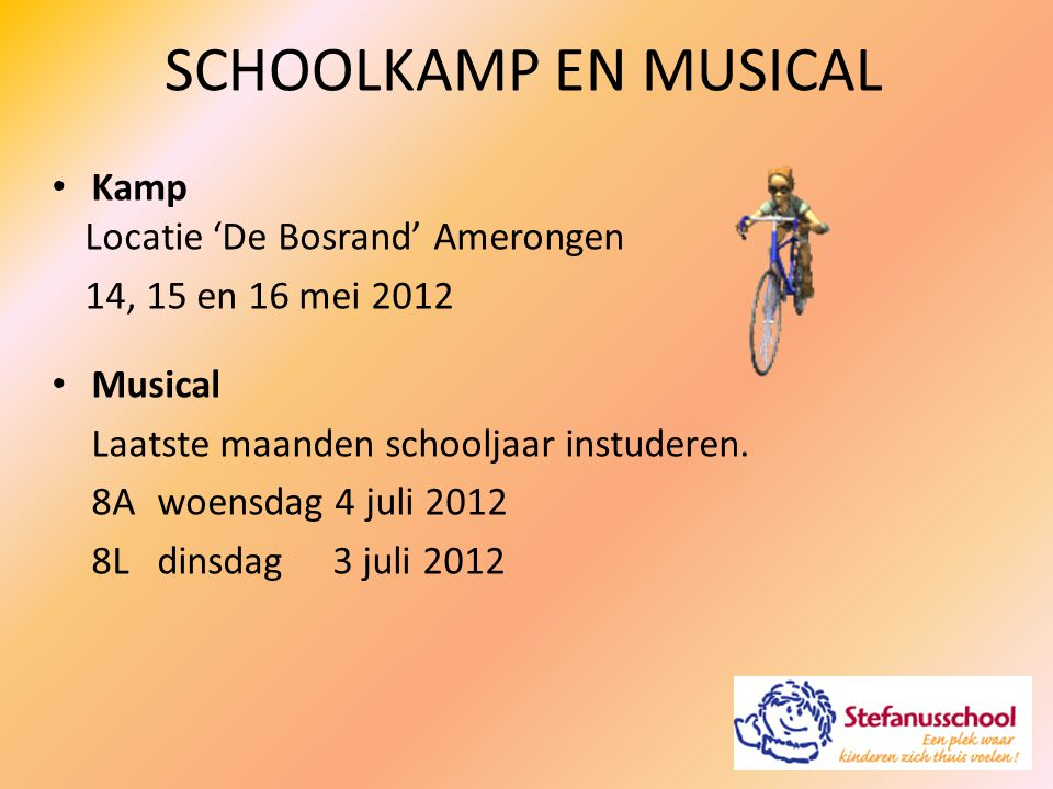 SCHOOLKAMP EN MUSICAL Kamp Locatie 'De Bosrand' Amerongen