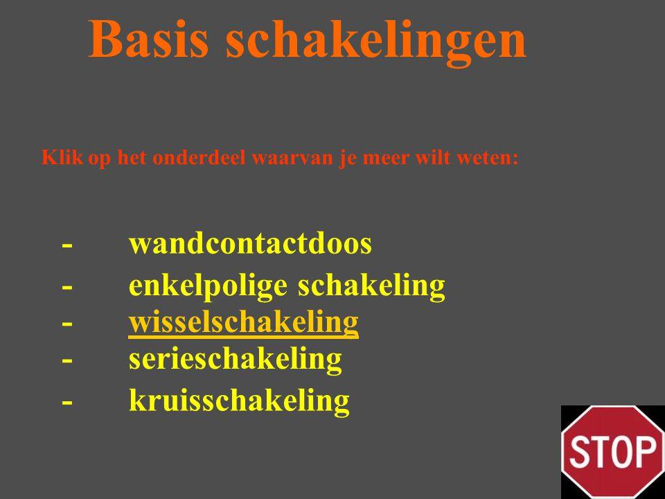 Basis schakelingen - wandcontactdoos - enkelpolige schakeling