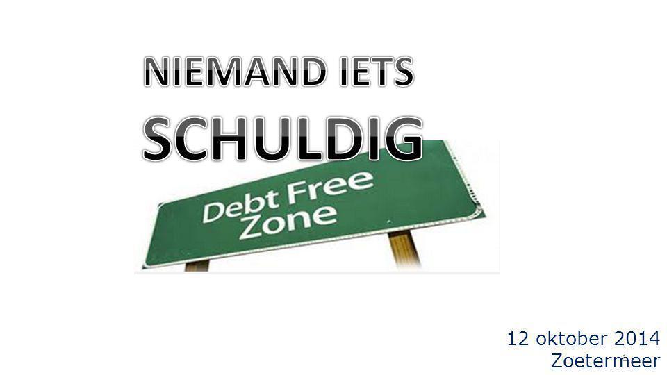NIEMAND IETS SCHULDIG 12 oktober 2014 Zoetermeer